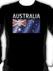 Australia - Australian Flag & Text - Metallic T-Shirt