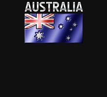 Australia - Australian Flag & Text - Metallic T-Shirt