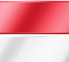 Austria - Austrian Flag & Text - Metallic Sticker