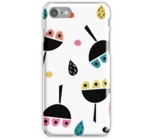 Multicoloured retro flowers iPhone Case/Skin