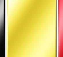 Belgique - Belgian Flag & Text - Metallic Sticker