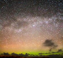 A Scottish Highlands milky way with a distant aurora.  by kingssummers