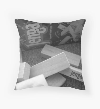 We All Lack Contrast Throw Pillow