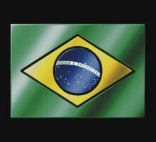 Brazilian Flag - Brazil - Metallic One Piece - Long Sleeve