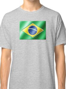 Brazilian Flag - Brazil - Metallic Classic T-Shirt