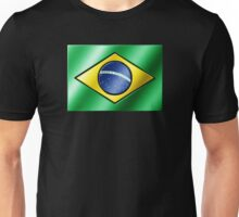 Brazilian Flag - Brazil - Metallic Unisex T-Shirt