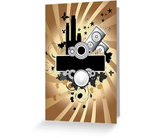 Black and gold Grunge Background Greeting Card