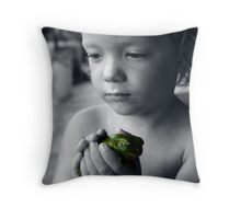 Lilly & Frog Throw Pillow