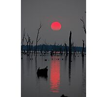 'A smokey sunset' Photographic Print