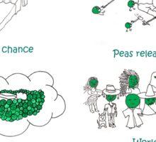 Peas (Peace! Please!) Sticker