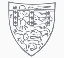 A Complete Guide to Heraldry - Figure 704 — Henry, Duke of Lancaster, son of preceding (From his seal, 1358) Kids Tee