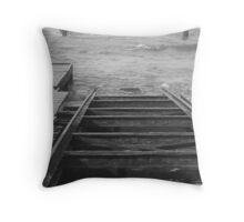 Boat ramp Throw Pillow