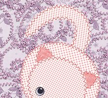 Embroidered Cat on Embroidered Background by elfrichardson