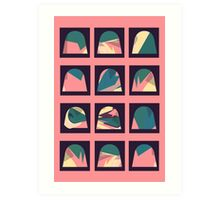 Colourful patterned domes Art Print