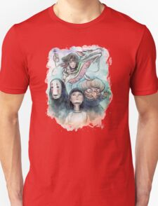 Spirited Away Miyazaki Tribute Watercolor Painting Unisex T-Shirt