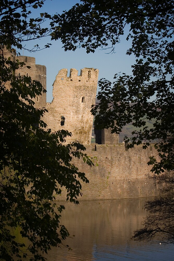 Caerphilly Castle - leaning tower by Kevin Jones