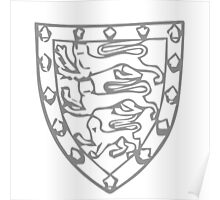 A Complete Guide to Heraldry - Figure 708 — Arms of John de Holand, Duke of Exeter (d 1400) Poster