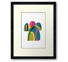 Flouro domes in pink and turquoise Framed Print