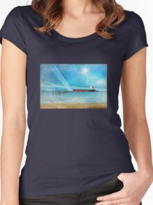 At the Edge Women's Fitted Scoop T-Shirt
