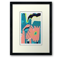 Freestyle pastel abstract Framed Print