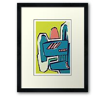 Multicoloured freestyle abstract Framed Print
