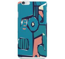 Pink and blue freestyle abstract iPhone Case/Skin