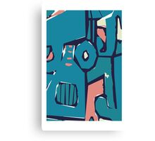 Pink and blue freestyle abstract Canvas Print