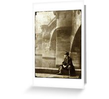 Reflecting by the Seine Greeting Card