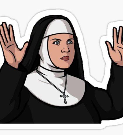 Pam the Nun Sticker