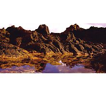 MOUNTAIN RANGE OR ROCK POOL? Photographic Print