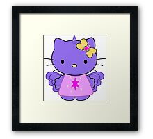 Twilight Sparkle Hello Kitty - Full Body Framed Print