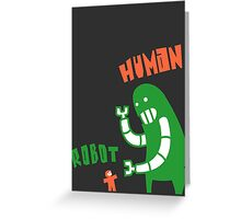 Robot v Human Greeting Card