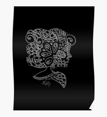 The Woman (White on Black) Poster