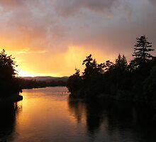 Sunset Over Esquimalt Gorge Park by musefulmagpie