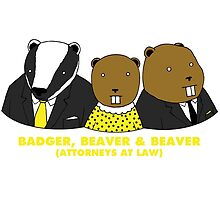 Badger, Beaver and Beaver by kevsamp