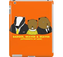 Badger, Beaver and Beaver iPad Case/Skin
