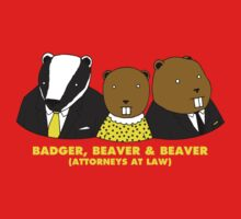 Badger, Beaver and Beaver Baby Tee