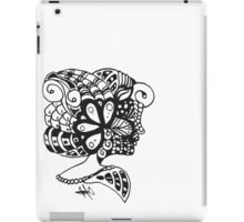 The Woman (Black on White) iPad Case/Skin