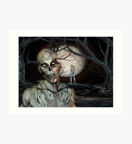 Zombie Malevolence Art Print