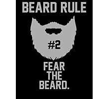 Beard Rule #2 Photographic Print