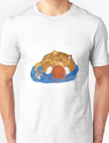Mouse and Kitten with a Yarn Ball T-Shirt