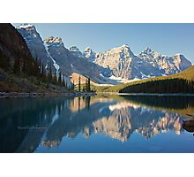 Lake Moraine - Alberta, Canada Photographic Print