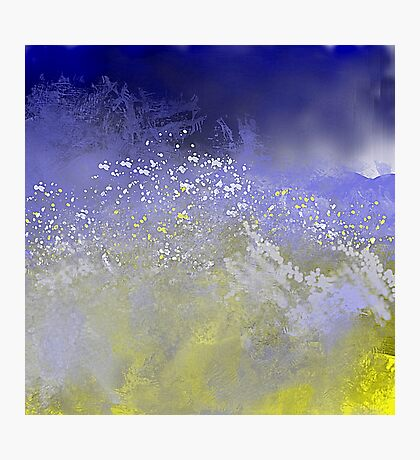 Blue and Golden Ocean Photographic Print