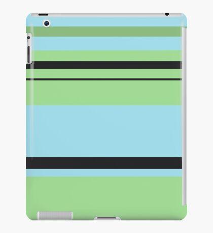 Blue, Green, and Black Stripes iPad Case/Skin