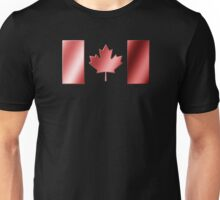 Canadian Flag - Canada - Metallic Unisex T-Shirt