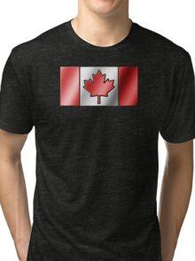 Canadian Flag 2 - Canada - Metallic Tri-blend T-Shirt