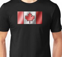 Canadian Flag 2 - Canada - Metallic Unisex T-Shirt