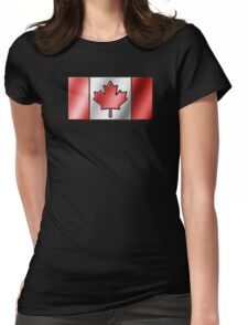 Canadian Flag 2 - Canada - Metallic Womens Fitted T-Shirt