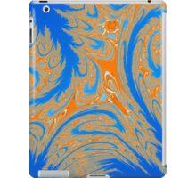 Wild Orange and Blue Abstract iPad Case/Skin