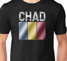 Chad - Chadian Flag & Text - Metallic Unisex T-Shirt